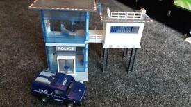Playmobil police station and van