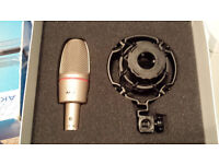 AKG C3000B Studio mic (new and unused)