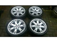 RR 18 INCH ALLOY WHEELS 5X108 FORD FOCUS ST RS MONDEO ZETEC S TITANIUM X CONNECT S MAX GALAXY VOLVO