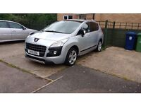 2013 Peugeot 3008 1.6 E-HDI Active, LOW MILEAGE, ECONOMICAL CAR and AA Mech breakdown warranty.