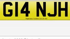 Private cherish plate G14NJH