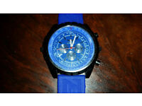Men's Breitling Watch, Blue. Great condition and works fine