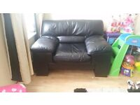 Large Leather Sofa and Armchair !!Bargain!!