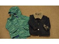 Baby boy's clothes - coats, trousers, tops, swimwear