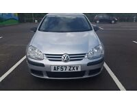 2007 VOLKSWAGEN GOLF 1.4 PETROL - REDUCED FOR QUICK SALE, BARGAIN !