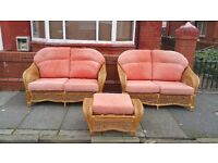 2 two seater wicker conservatory furniture