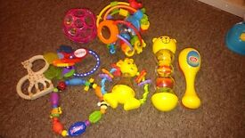 Rattles, teething and soft toys