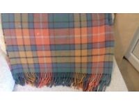 Blanket/throw made from pure wool