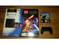 1 TB PS4 in fantastic condition plus game - new matte model with mechanical buttons