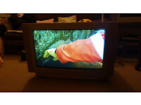 Sanyo TV, used, remote control