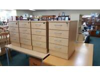 4 sets of office drawers