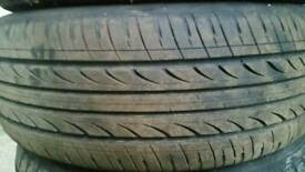 Five 205 r60/16 tyres and wheels