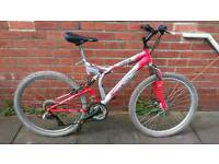 Adults Terrain mountain bike 19 inch frame, 24 speed, front disc, ready to ride