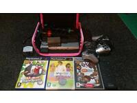 Ps2, singstar, eye toy, carry case, 3 games