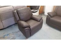 Ex Display ScS LIBRA BROWN LEATHER STANDARD ARMCHAIR Can Deliver Viewing Kirkby NG177