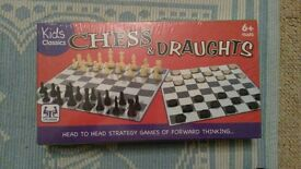 Brand new sealed Chess & Draughts games