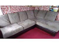 tan material corner sofa for sale