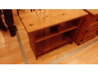 Pine TV stand or table side board in perfect condition can deliver