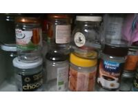 50 GLASS JARS WITH LIDS - JAM COFFEE FOOD PICKLE, TINY TO LARGE SIZES - FOR JAM MAKING & CRAFT