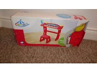 Toy keyboard and stool