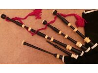 Old set of Thow or Mac Dougall Bagpipes
