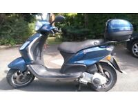Piaggio Fly 125cc blue 2010 - with MOT, new front tyre
