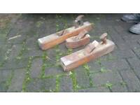 3 very old joiner wood planes