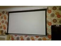 """projector screen 84"""" Widescreen 16:9 Optoma Panoview Pull Down"""