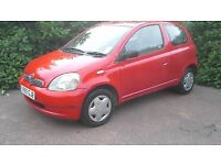 Toyota Yaris 1.0lt 12mts MOT no advisories