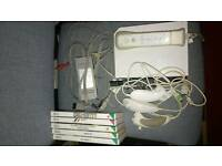 Nintendo wii console 5 games, motion plus.