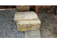Concrete coping stones Twice Weathered - 280mm x 600mm - Buff - Double wall