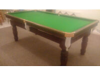 7ft Snooker & Dining Table - Slate, all accessories included