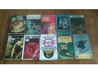 science fiction books, vintage