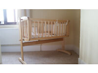 Mothercare swining crib with mattress