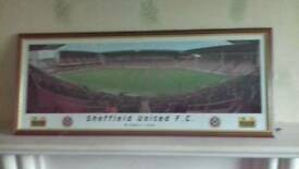 Framed Bramall Lane photograph
