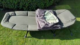 Jrc Stealth 3 Leg Bedchair & Sleeping Bag