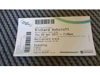 Richard Ashcroft concert ticket