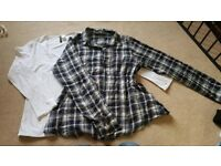 2 maternity tops / shirt size 16