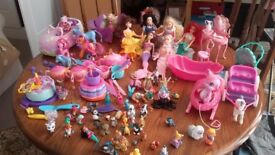 Dora doll, cake horse & carriage and barbie accessories
