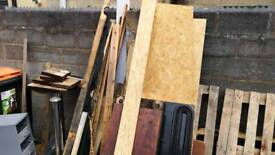 Free wood for building or burning