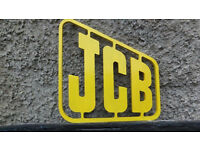 JCB ADVERTISING ORIGINAL MACHINE SIGN
