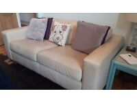 2 Seater M&S Cream Leather Sofa *Need Gone*