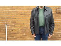 Black Leather jacket. Size XL