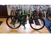 SPECIALIZED MOUNTAIN BIKE CUSTOMISED GREEN
