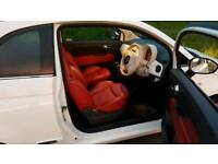 Fiat 500 1.2 Lounge, **25K MILES **RED LEATHER SEATS **GLASS ROOF
