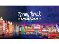 2x 2018 spring break Amsterdam festival package