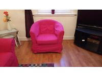 Red IKEA chair for sale