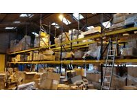 link 51 racking - 30 upright sections - enough for 29 bays of - 100+ cross beams