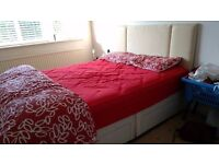 4 drawer double bed with mattress and new headboard