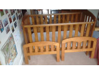 Cot - cotbed - John Lewis - solid wood